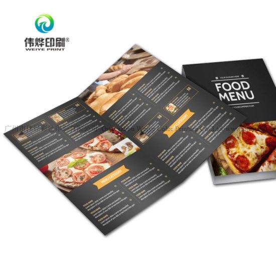 china custom full color printing booklet leaflet menu catalog
