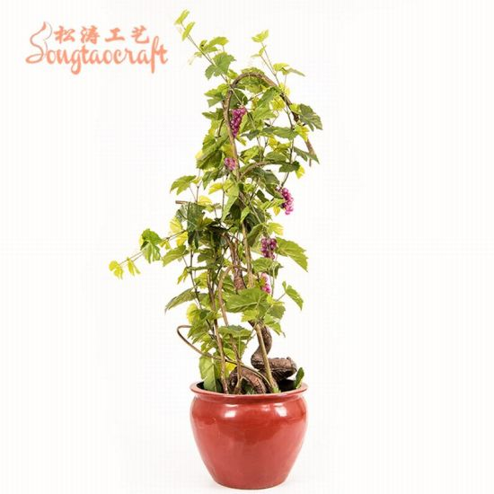 China Home Decor Artificial Purple Grapes Tree Bonsai Fruits Tree Potted Plant China Artificial Tree And Artificial Grapevine Price