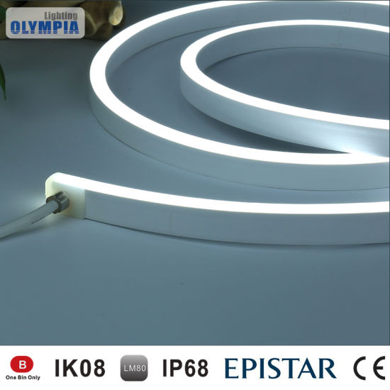 china warm white 24v led neon rope light for outdoor contour