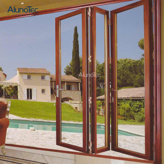 New Design Soundproof Folding Sliding Door For Backyard