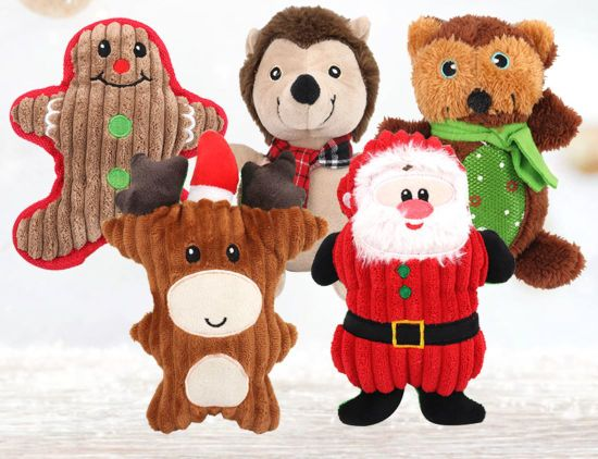 Christmas Pet Accessories Santa Gingerbread String Plush Dog Toys pictures & photos