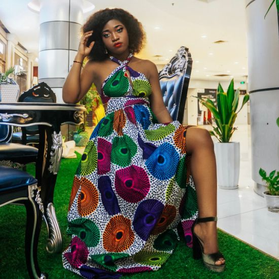 2021 Wholesale Fashion Custom African Kitenge Dress Designs Plus Size off-Shoulder 100% Cotton Women Maxi Dress
