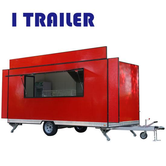 Fiberglass Food Van Mobile Kiosk Coffee Cart For Sale