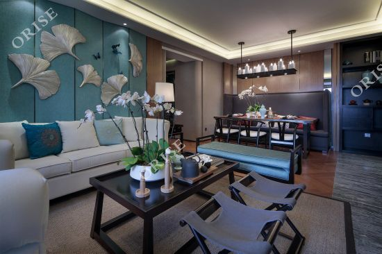 5 Star Hotel Suit Room Ash Solid Wood Fabric Sofa Set