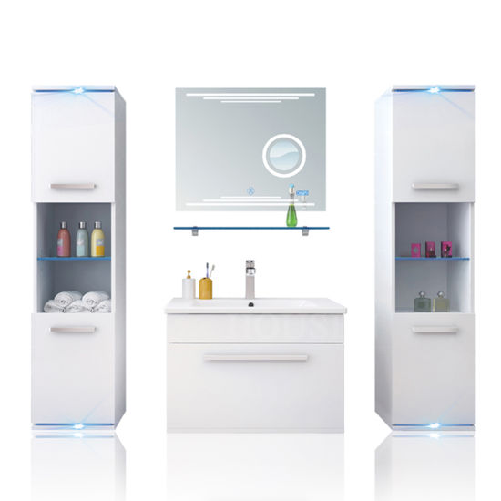 New Arrival Floating Bathroom Furniture Luxury Vanity with Many Drawer HS-E1901