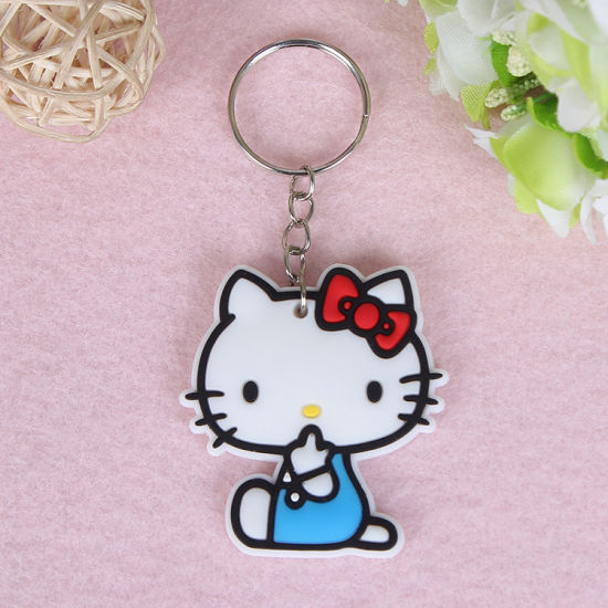 Fancy Girl Bag Charm Cute Hello Kitty Pvc Keychain China Hello