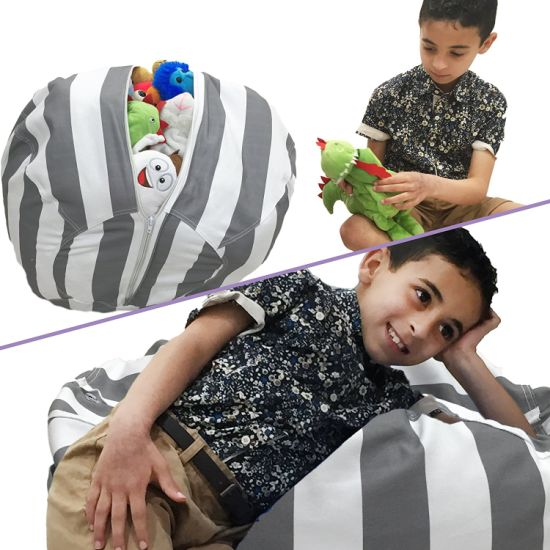 Astonishing Stuffed Animal Storage Bean Bag Chair For Kids Theyellowbook Wood Chair Design Ideas Theyellowbookinfo