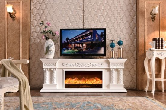 China Best Selling Wooden Mdf Fireplace Tv Stand With Electric