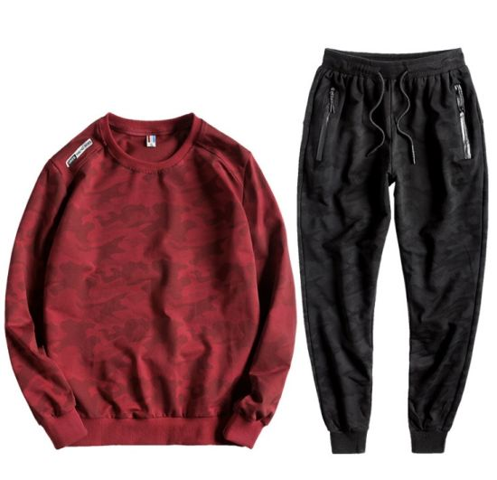 Fashion Sports Running Gym Pullover Tracksuit Hoody Mens Fitness Sportswear