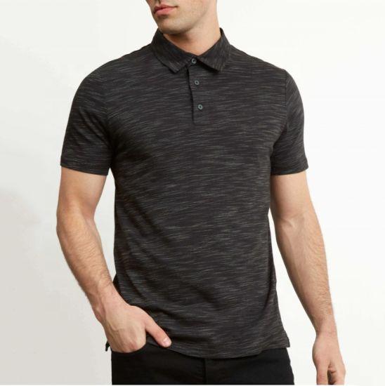 Fashion Man's Cotton Custom Printing Short Sleeve Casual Polo T Shirt Wholesale