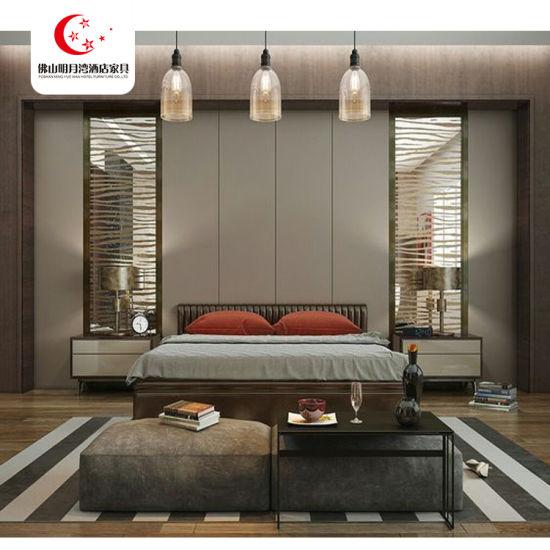 Modern Double Bed bedding Design Hotel Bedroom Furniture Set