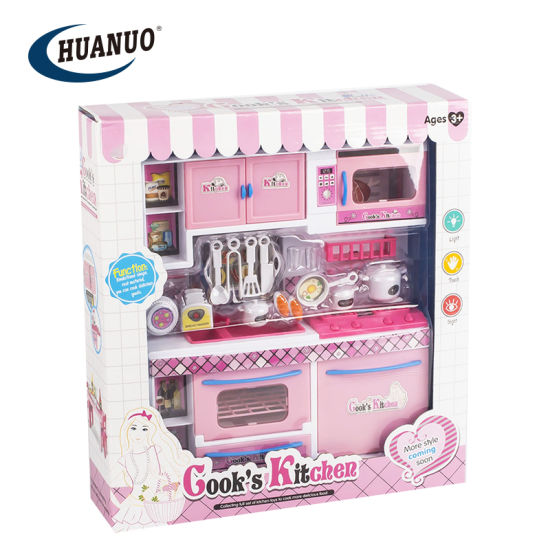 Kids Modern Pink Style Cooking Toys Kitchen Set as Gift