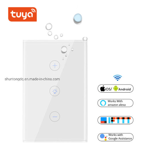 WiFi Smart Wall Touch Light Dimmer Switch Us Standard Tuya APP Remote  Control Works with Amazon Alexa and Google Assistant