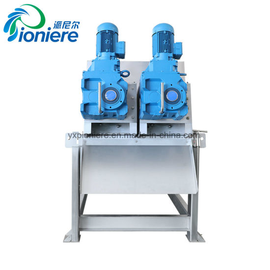 Screw Filter Press Water Treatment Sludge Thickening and Dewatering Machine for Dairy Farm pictures & photos