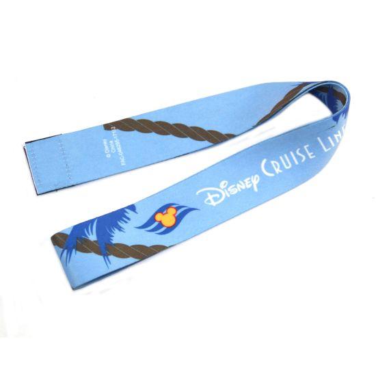 Blue Satin Sublimation Custom Design Lanyard for Exhibition