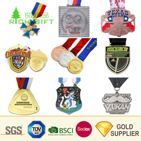 Manufacture Cheap Wholesale Zinc Alloy Bodybuilding Catholic Port  Sublimation Judo Chess Boxing Spartan Race Graduation Design Your Own Pin  Medal for