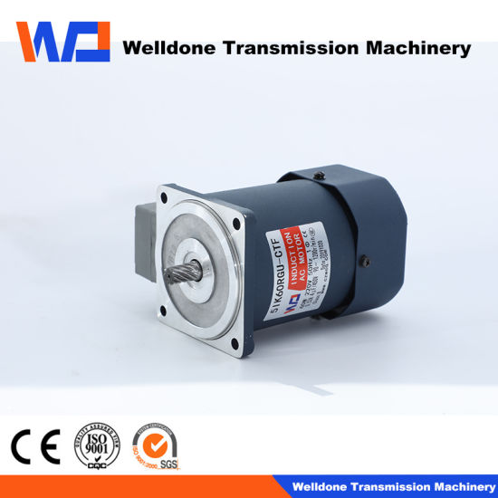 90mm 3-Phase 60W Single Phase Right Angle AC Right Angle Gear Motor Low Temperature Rise, Long Life