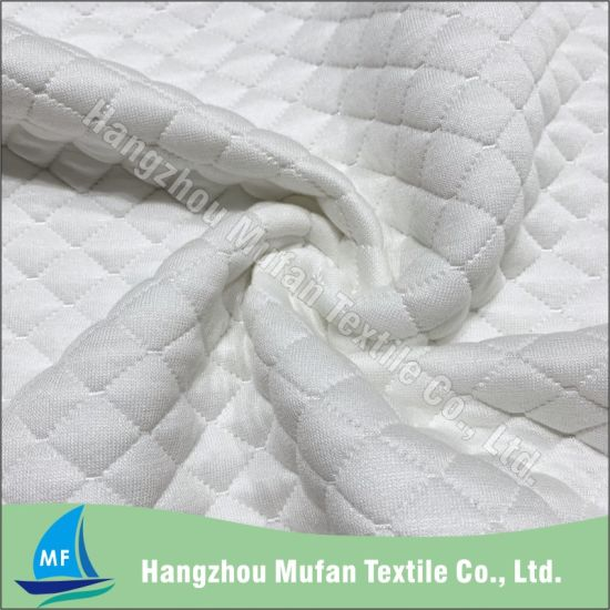 Comfortable Spun Polyester Wholesale Knitted Fabric for Mattress and Pillow