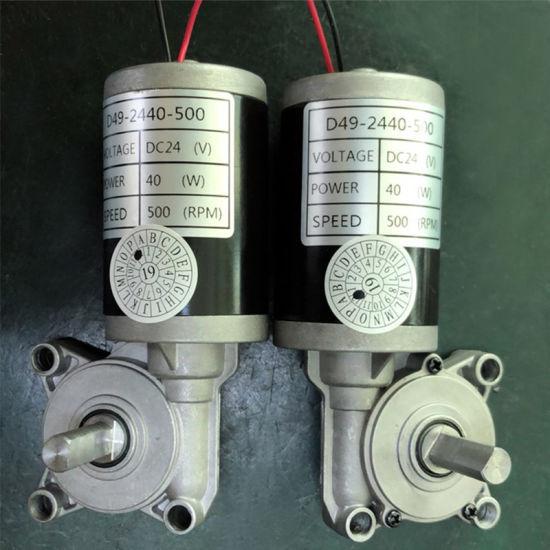 49mm Double Shaft Worm Gear Motor DC 12V 24V High Torque Geared Motor