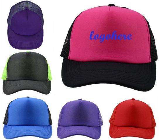 BSCI Blank Contrast Colors Foam Mesh Cap Summer Sport Hat