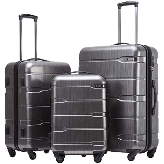 ABS+PC Spinner Built-in Tsa Lock Carry on Expandable Travel Luggage