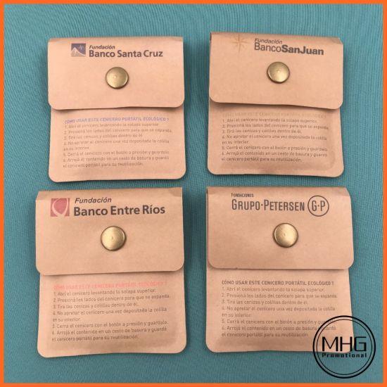 Recyclable Kraft Paper Portable Pocket Ashtray