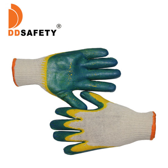 Double Color Latex Coated Protection Gloves