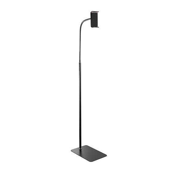 175cm Hose Arm Height Adjustable Flexible Tablet Floor Stand