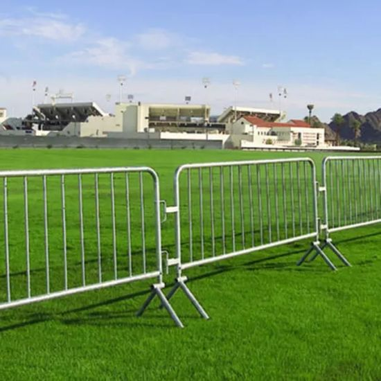 Low Price Hot Dipped Galvanized PVC Coated Crowd Control Barrier Pedestrian/Retractable Safety Wall Traffic Barrier Walkthrough for Garden Building