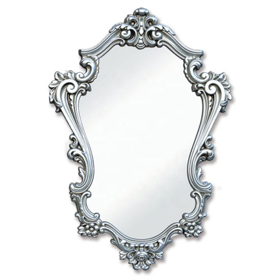 Banruo New Arrival Classic PU Mirror Frame for Bathroom Decoration