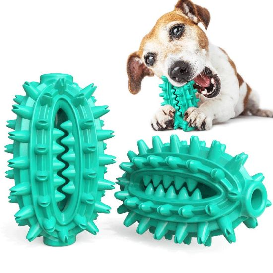 New Pet Supplies Dog Toys Cactus Shape Teeth Grinding Stick Toothbrush Dog Bite Rubber Toy