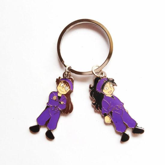 Wholesale Custom Metal Art Crafts Laser Engraving Key Ring Fashion Decoration Key Holder Floating Promotional Gift Logo Key Chains Tag for Souvenir