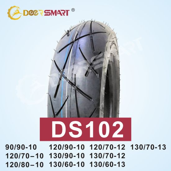 Motorcycle Accessories Motorcycle Tire 130 60 13 Outstanding Performance Size 130/60-13 Pattern Ds102 Motorcycle Tubeless Tire High Pressure Tire