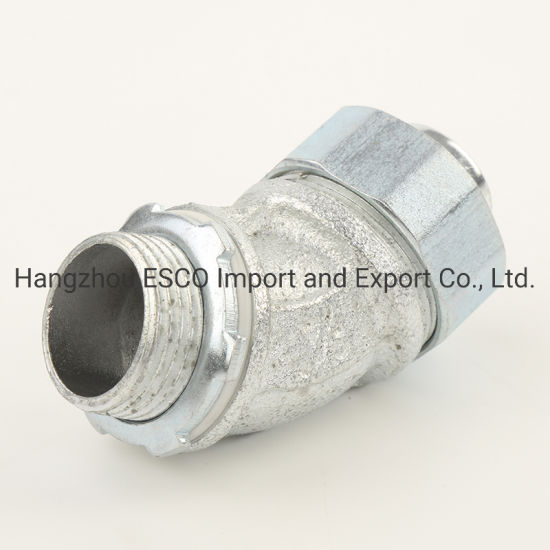 Malleable Iron 90 Degreef Waterproof Liquid Tight Connector