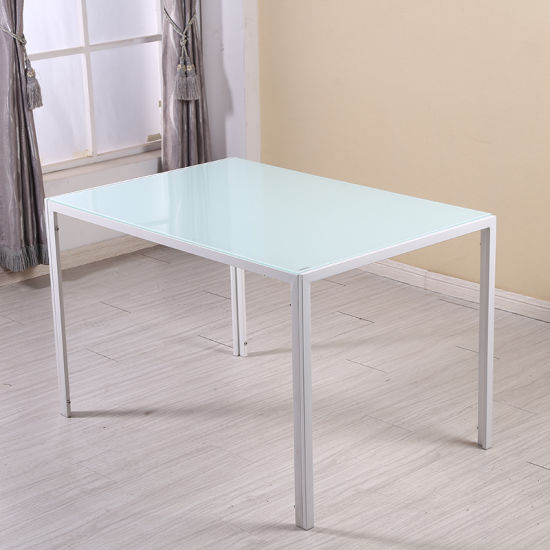 Modern Home Furniture Metal Frame Restaurant Marble Dining Table