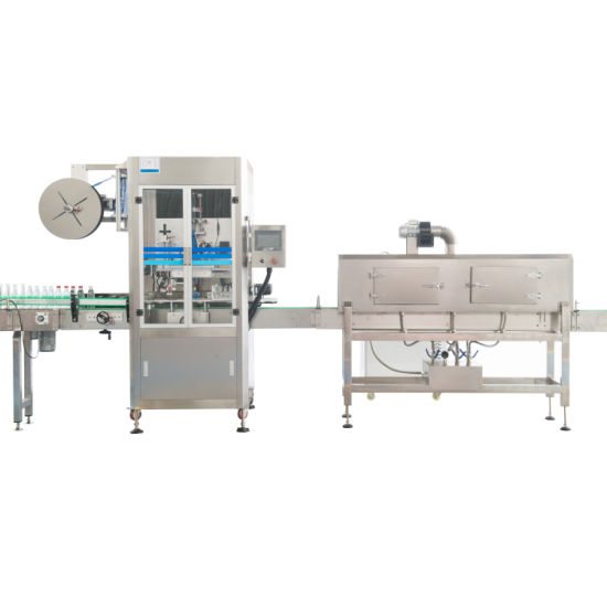 Fully Automatic Round Square Juice Water Beverage Bottle PVC Film Sleeve Labeling Machine