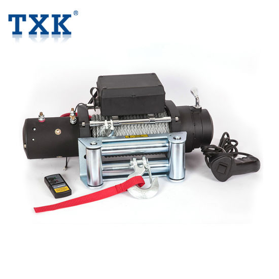 Txk 12000lbs 12V 24V 4WD off Road 4X4 Car Electric Winch with Synthetic Rope / Wire Rope