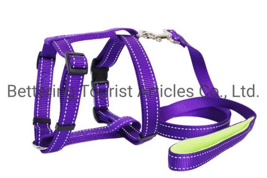 Reflective Mesh Dog Harness Purple