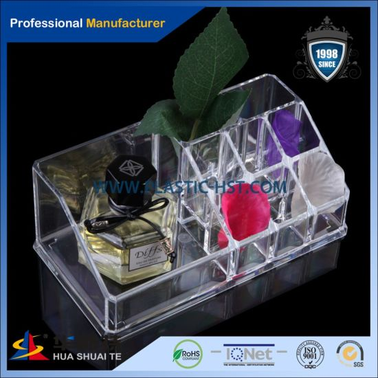 Creative Design Plastic Acrylic Display Box with Lid Makeup Brush Organizer pictures & photos