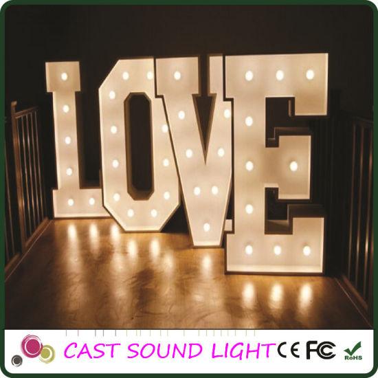 Fancy Led Letter Sign Lights Multi Shape Wedding Decoration