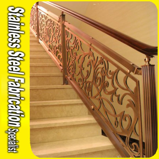 Luxury Brass Color Aluminum Stair Railing