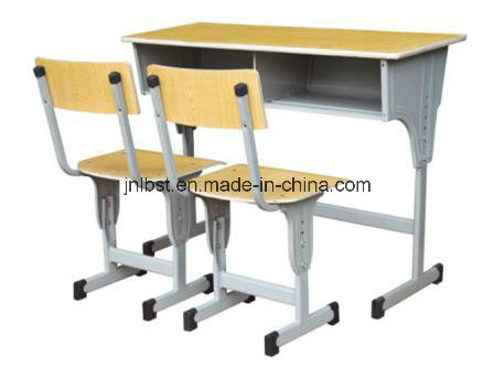 Standard size of morden set up double student desk and chair from factory pictures & photos