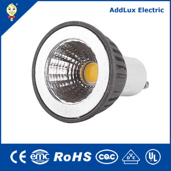 Ce UL Saso Gu5.3 GU10 5W SMD or COB LED Cup Lamp Made in China for Hotel, Accent, Bar, Living Room, Bedroom, Dining Room Lighting From Best Distributor Factory