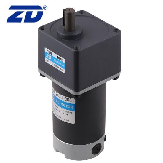ZD 90mm 60W 90W 120W High Torque Low Speed Electric DC Gear Reduction Motor