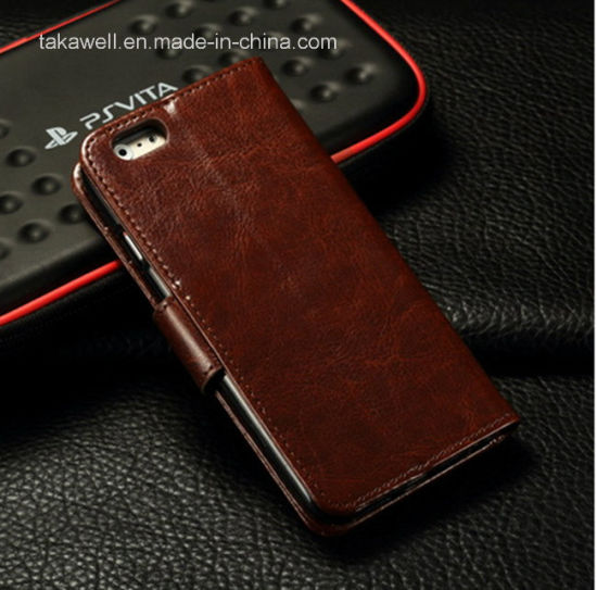 Low Price Custom Design Leather Case with Photo Frame for iPhone 6 Genuine Leather Case pictures & photos