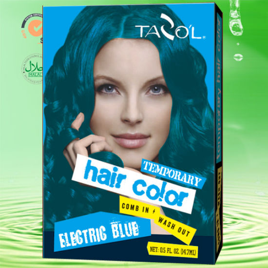 Tazol 79*2 Bright Blue Temporary Hair Color pictures & photos