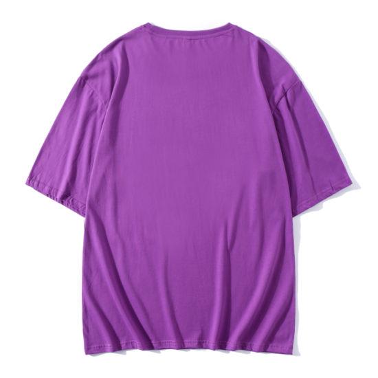 OEM Customized Logo Organic Mens T Shirt Cotton Solid Crew Neck Wholesale