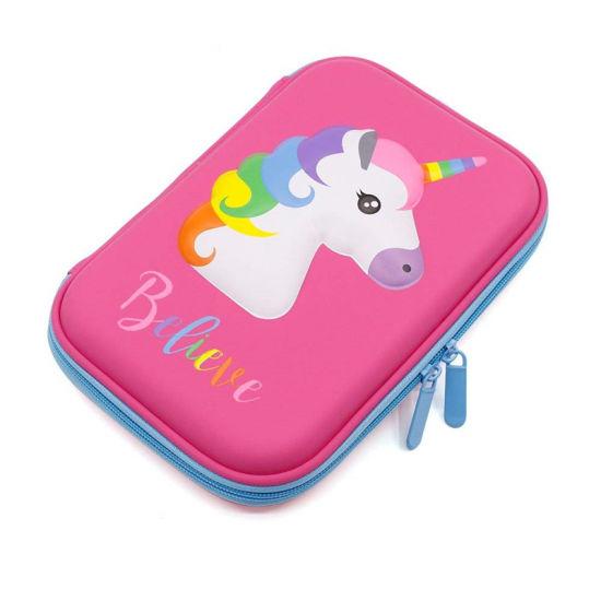 Silicone Cute Unicorn EVA Pencil Case