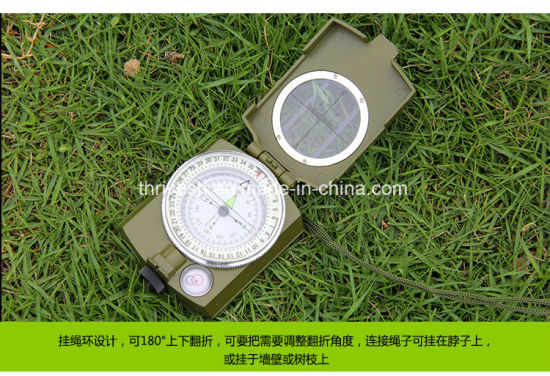 Portable Military Army Prismatic Lensatic Compass with Neck Strap Belt pictures & photos