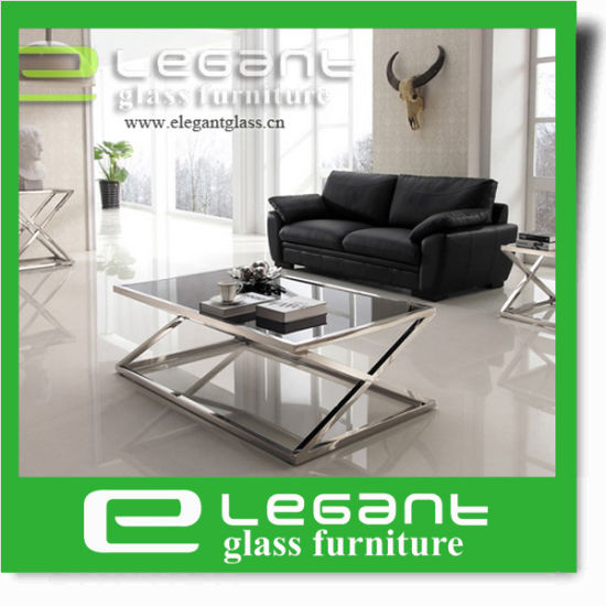 Kagawa White High Gloss MDF Coffee Table with Tempered Glass Legs pictures & photos